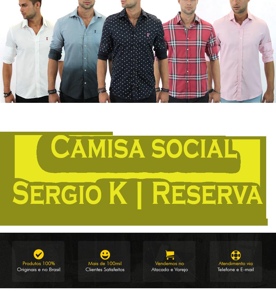 CAMISA LACOSTE BRANCO SERGIO K LISTRADA BOLINHAS XADREZ   Camisa ... ad766845db