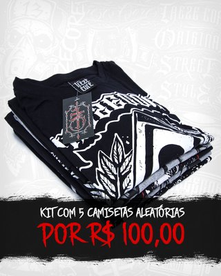 Kit 5 Camisetas Aleatórias