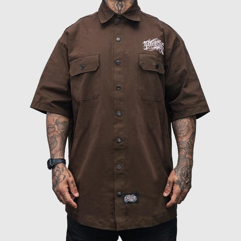 Camisa Work Shirt Treze Core - Marrom - Treze Core