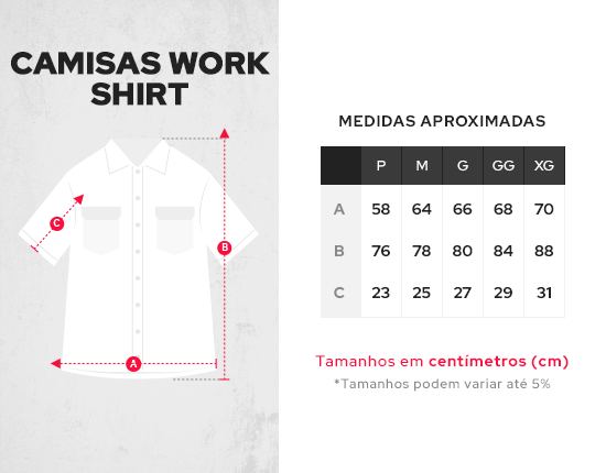 Camisa Work Shirt Treze Core - Marrom