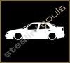 Stickers / Decals - Car Lowered Silhouette - 001