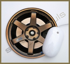 Mouse Pad Circular Wheels Marks - 097