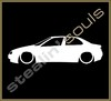 Stickers / Decals - Car Lowered Silhouette - 002