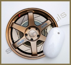 Mouse Pad Circular Wheels Marks - 098