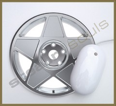 Mouse Pad Circular Wheels Marks - 002