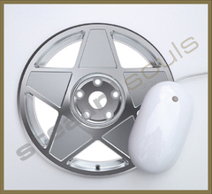 Mouse Pad Circular Wheels Marks - 002 - comprar online