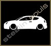 Stickers / Decals - Car Lowered Silhouette - 003