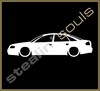 Stickers / Decals - Car Lowered Silhouette - 006