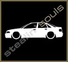 Stickers / Decals - Car Lowered Silhouette - 007