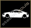 Stickers / Decals - Car Lowered Silhouette - 008