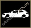 Stickers / Decals - Car Lowered Silhouette - 009