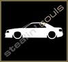 Stickers / Decals - Car Lowered Silhouette - 011