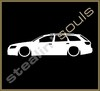 Stickers / Decals - Car Lowered Silhouette - 012