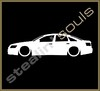 Stickers / Decals - Car Lowered Silhouette - 013