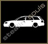 Stickers / Decals - Car Lowered Silhouette - 014