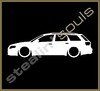 Stickers / Decals - Car Lowered Silhouette - 015
