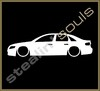 Stickers / Decals - Car Lowered Silhouette - 016