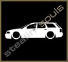 Stickers / Decals - Car Lowered Silhouette - 017