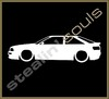 Stickers / Decals - Car Lowered Silhouette - 018