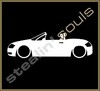 Stickers / Decals - Car Lowered Silhouette - 019