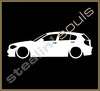 Stickers / Decals - Car Lowered Silhouette - 020