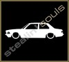 Stickers / Decals - Car Lowered Silhouette - 021