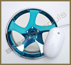 Mouse Pad Circular Wheels Marks - 073