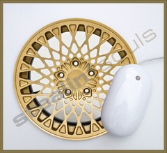 Mouse Pad Circular Wheels Marks - 079