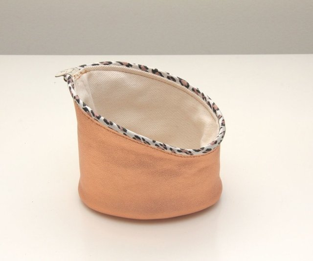 Leather Basket I Cesto de cuero I mini oval en internet