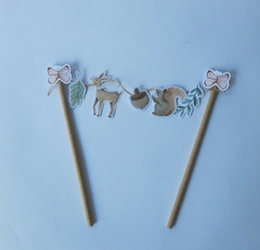 CAKE TOPPER WOODLAND