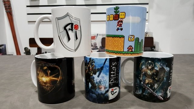 Caneca em porcelana personalizada Game of Thrones. - Pittas Board Games