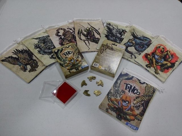 KIT COMPLETO TINCO AUTOGRAFADO - Pittas Board Games