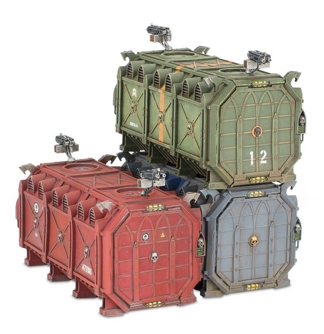 Munitorum Armoured Containers - 40k - Pittas Board Games