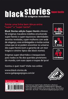 BLACK STORIES SUPER-HERÓIS