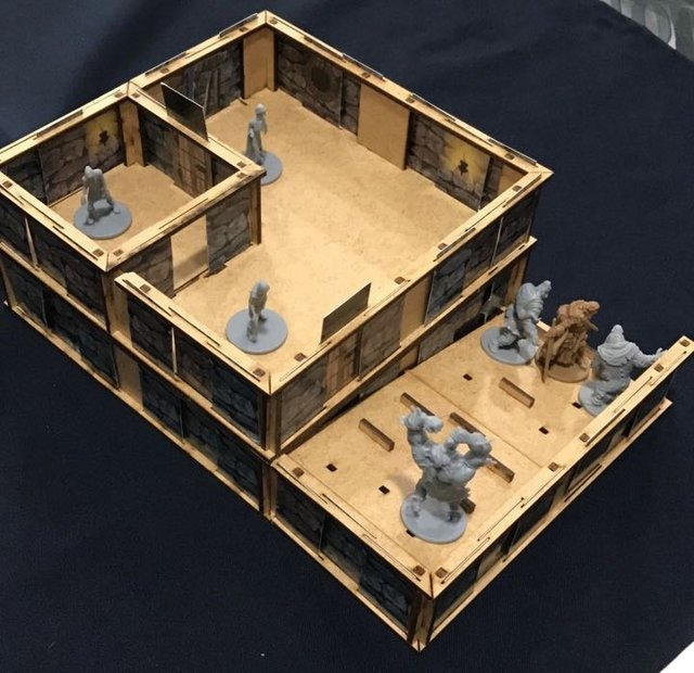 Kit Paredes 3D Zombicide Wulfsburg - loja online