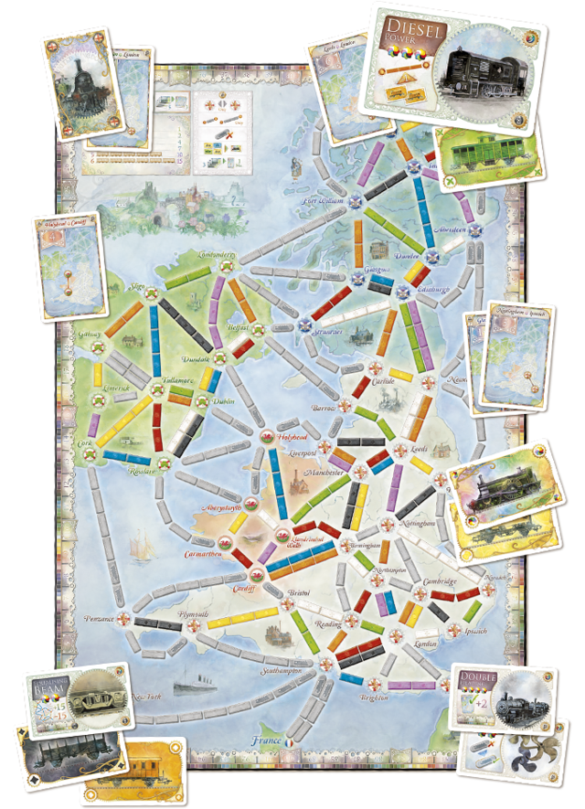 Ticket to Ride United Kingdom - expansão (importado) na internet