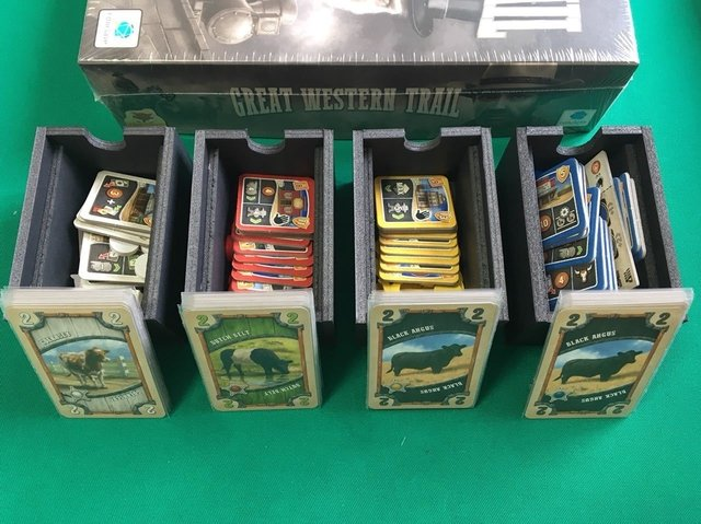 Insert/ Organizador para o Great Western Trail - Pittas Board Games