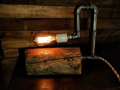 PIPE WOOD LAMP en internet