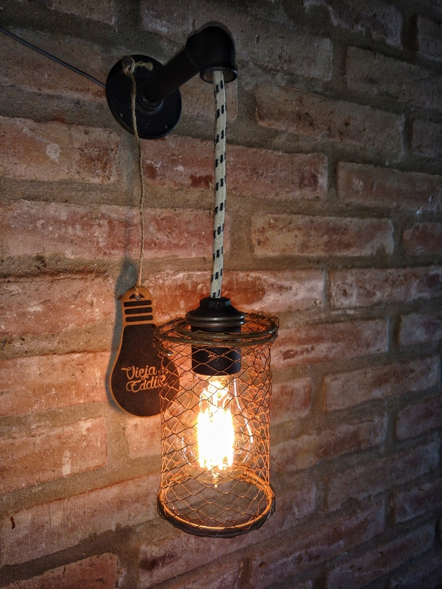 Lampara Vintage Aplique Pared Industrial - comprar online
