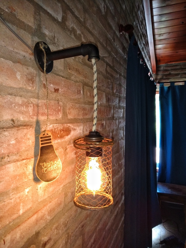 Lampara Vintage Aplique Pared Industrial