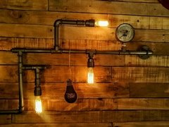 Aplique Pared Industrial 5 Edison Vintage en internet