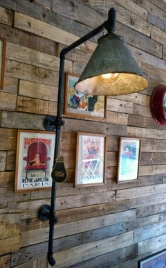 Lampara Pared Estilo Industrial Pantalla Reclaimed