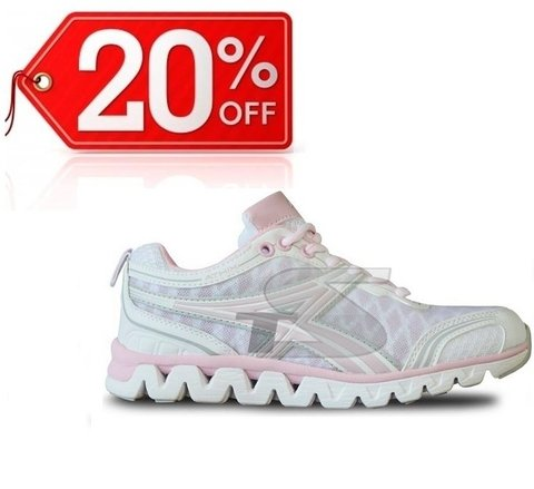 Zapatillas Running Athix - UP0623 Blanco/Rosa
