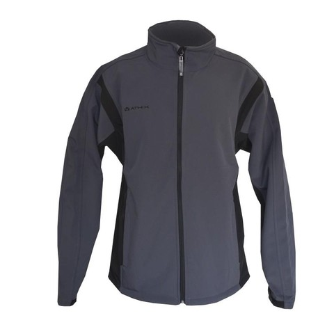 Campera Soft Shell Athix Gris- Negro