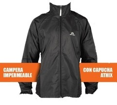 Campera Athix Impermeable Rompeviento con capucha