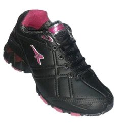 Zapatilla Athix Winner Gel Negro/Rosa