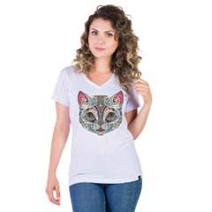 Recicle Use Camiseta ecológica - Gato mosaico