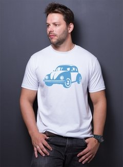 Camiseta Ecológica Recicle Use Fusca Azul Malha Pet