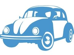 Fusca Azul Recicle Use