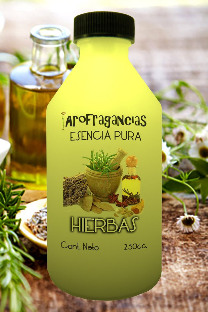 """Esencia Pura """"Hierbas"""" x 250 cc."""